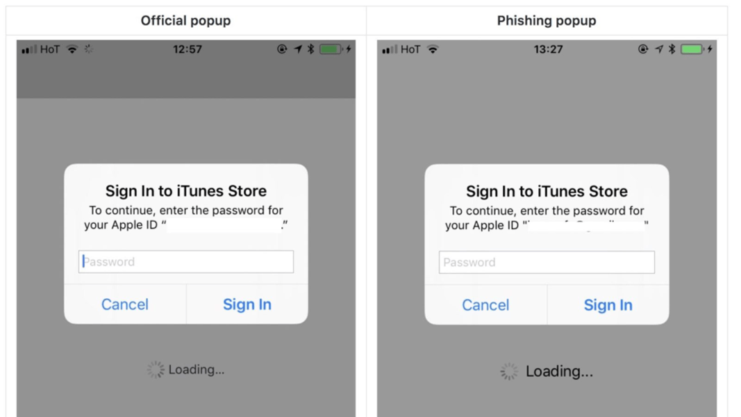 Phish Beneath IOS Environment, anti-phishing solution