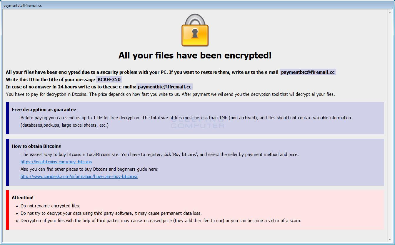 Dharma Ransomware weaponizes itself with fresh Cmb variant