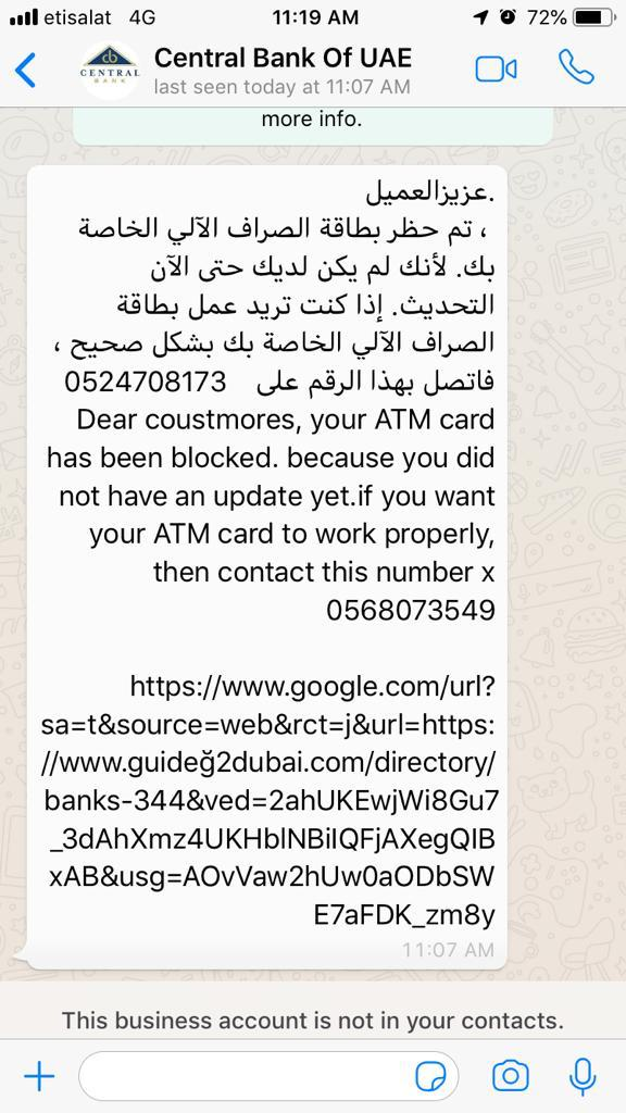 Phishing Modus Using WhatsApp