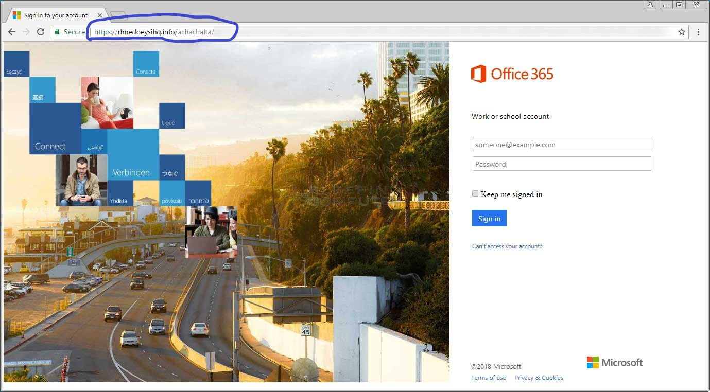 Office 365 phishing scam