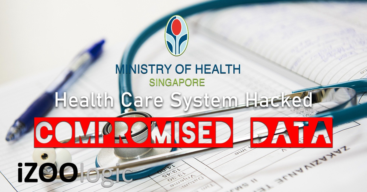 ministry of health singapore health care system data breach compromised data hacked hacking cyberattack