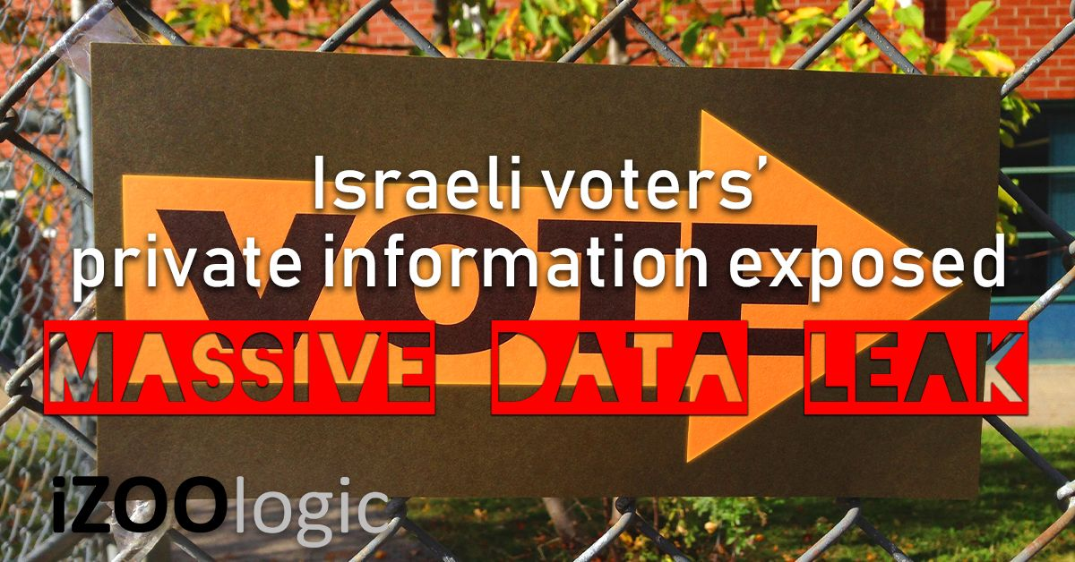 massive data leak israeli voters compromised data risk and compliance brand protection policy enforcement website protection third party risk assessment vendor risk assessment