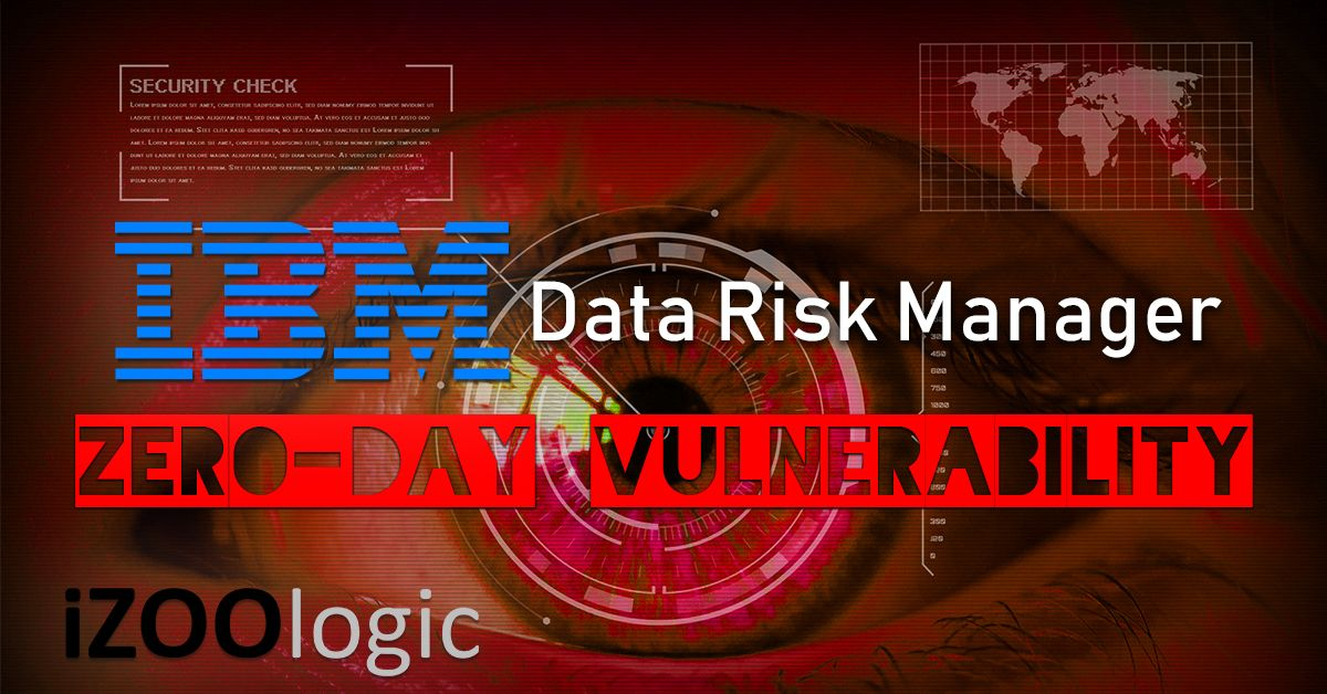ibm data risk manager idrm zeroday vulnerability