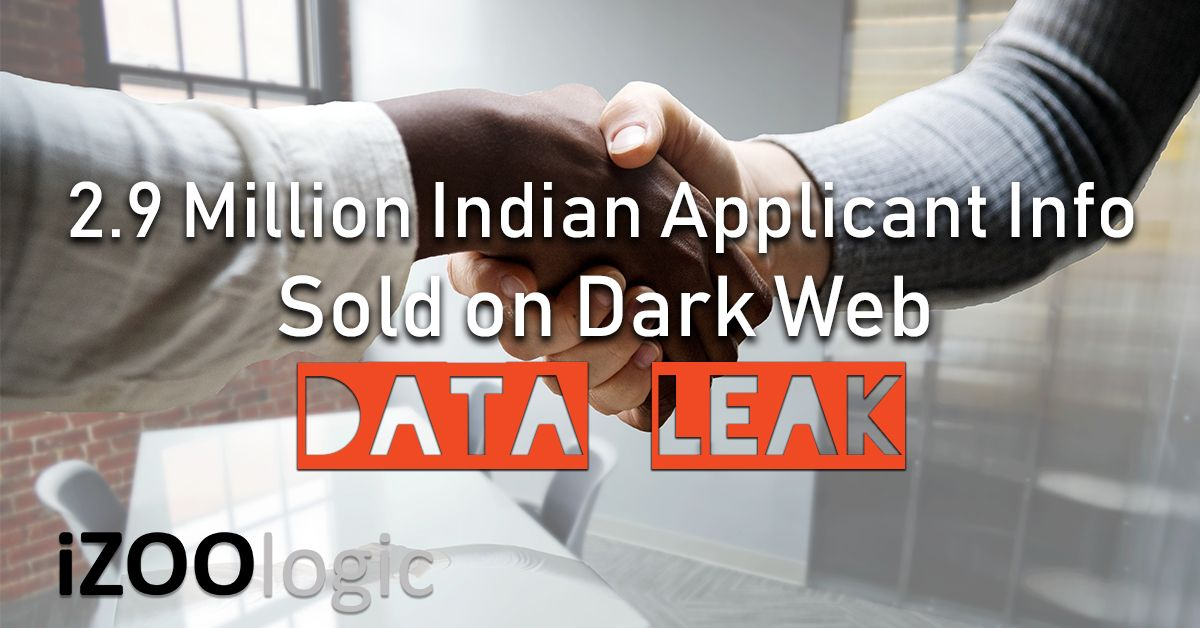 2.9 million indian applicant info data leak dark web compromised data