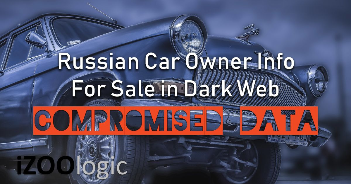 russian car owner info for sale in dark web data leak compromised data