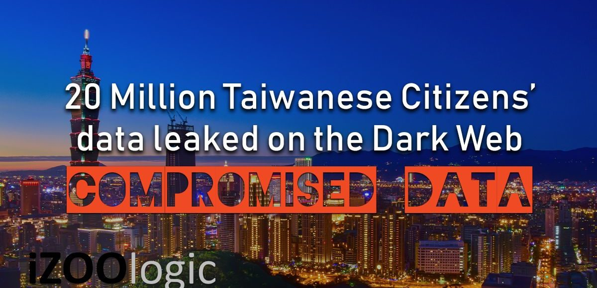 20 million taiwanese citizens data leak dark web