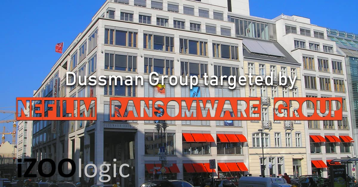 dussman group Nefilim Ransomware Group malware antimalware hacking