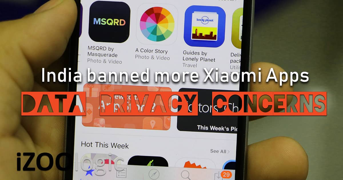 india banned xiaomi apps mi browser qq im china