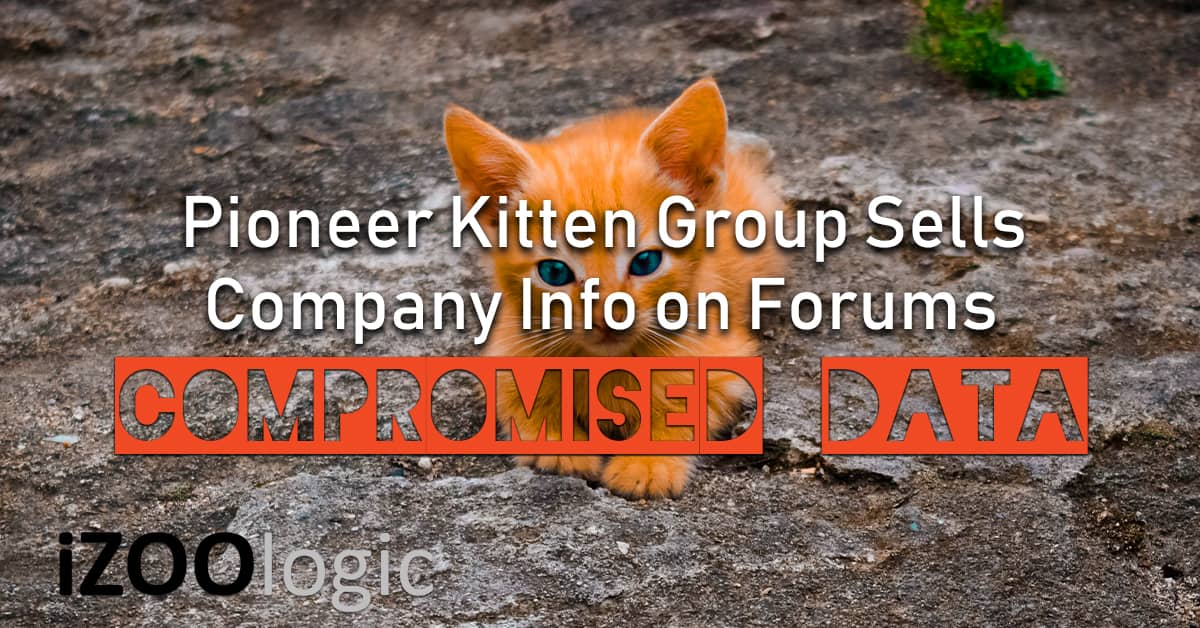 pioneer kitten iranian hackers compromised data underground forums dark web data breach