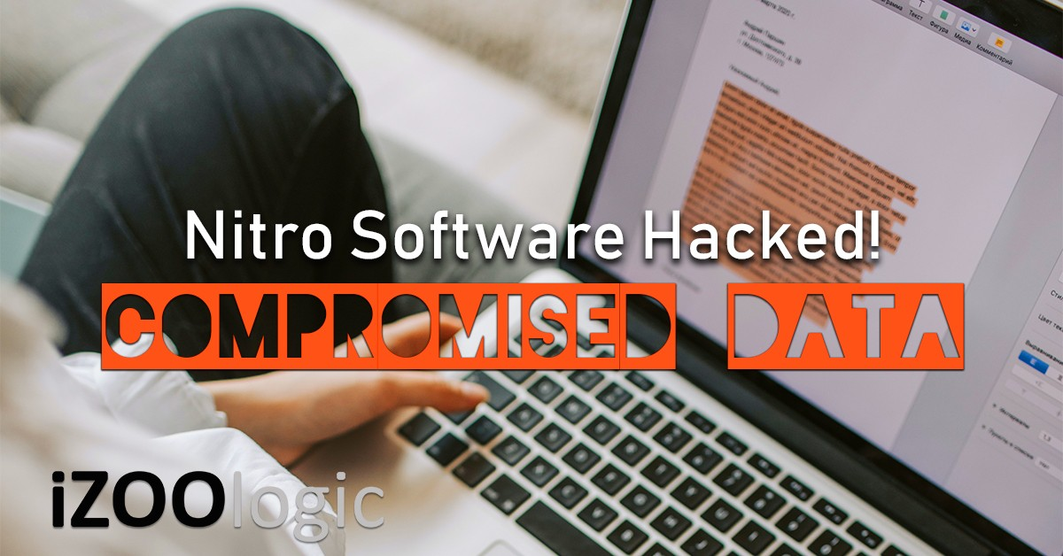 nitro software hacked compromised data breach dark web market