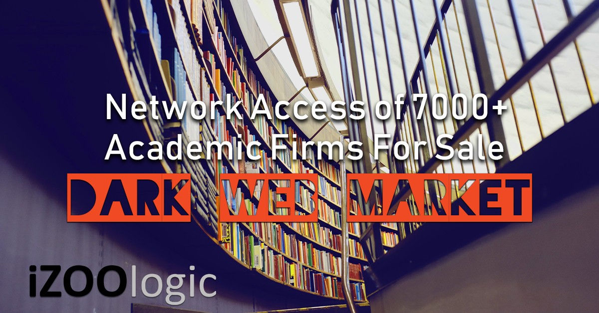 Network Access Academic Firms for sale Dark Web