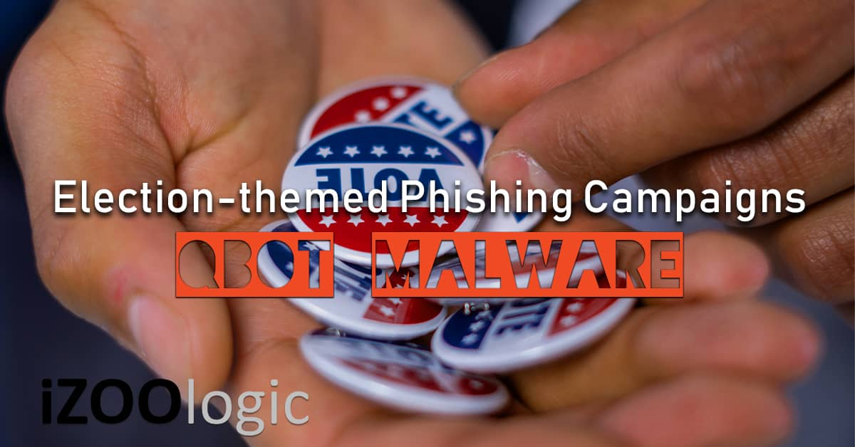 qbot malware election campaign spam phishing email malspam