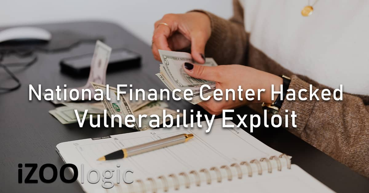 national finance center hacked solarwinds vulnerability NFC chinese hackers