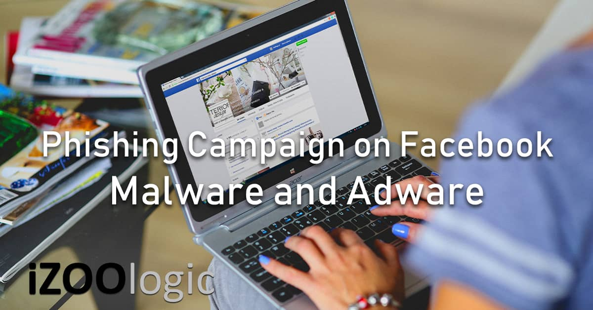 malware adware phishing campaign facebook messenger social media