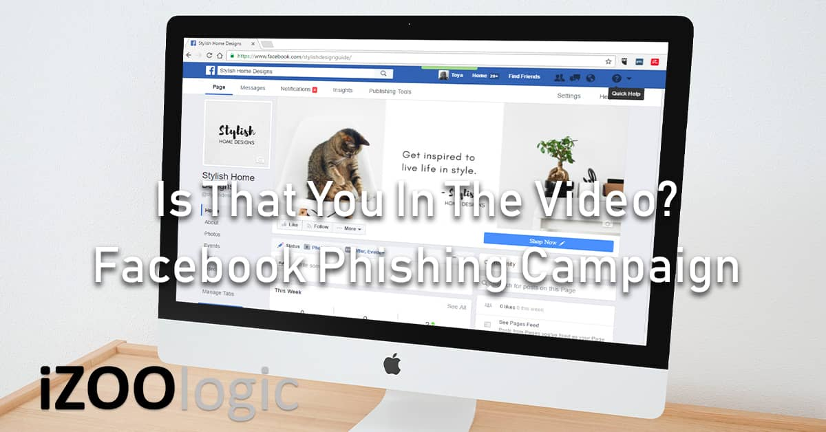 facebook phishing campaign is that you in the video