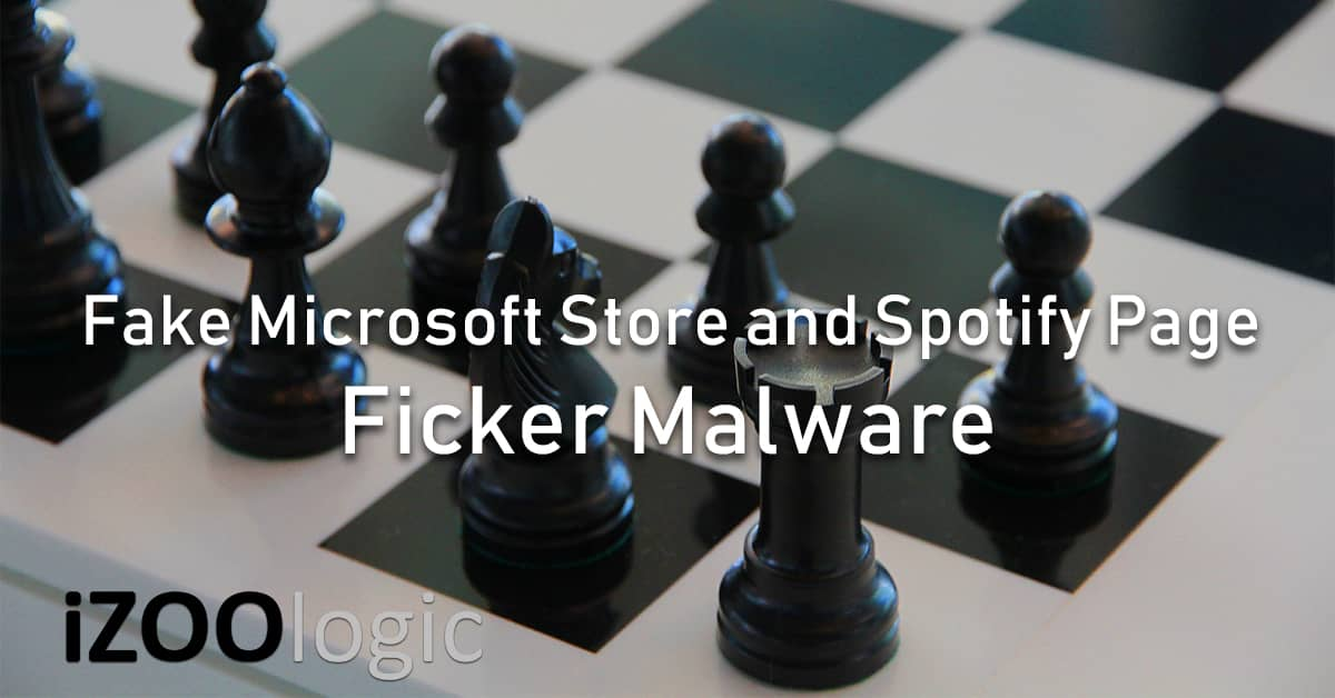 ficker malware campaign microsoft spotify chess advertisment campaign