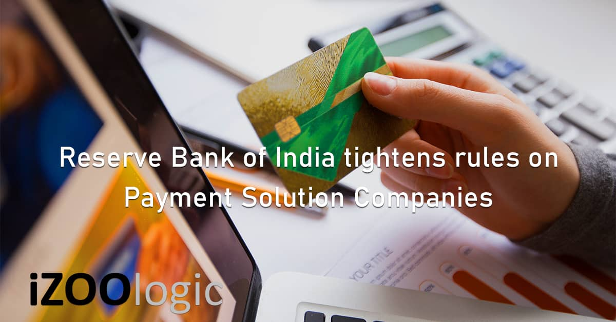 Reserve Bank of India RBI core activities payment solution companies