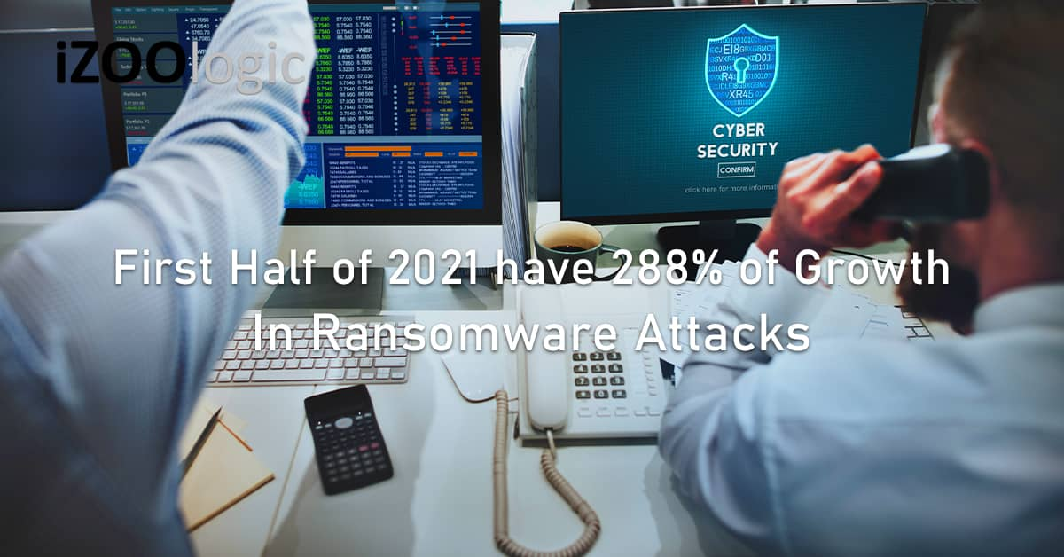first half 2021 288% growth ransomware attacks