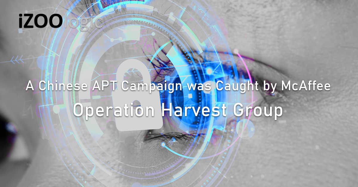 Chinese APT campaign Operation Harvest McAffee