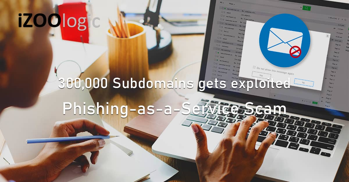 300k Subdomains exploited Phishing-as-a-Service Scam phishing attack